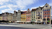 Old houses on Market Square in Wroclaw — Stock Photo