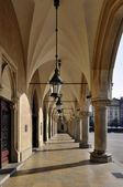 Arcades of Sukiennice in Krakow, Poland — Stock Photo