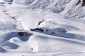 Ski pistes in Alps — Foto Stock