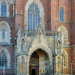 Gothic Portal of Wroclaw Cathedral - Stock fotografie