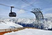 Gondola cable car — Stock Photo