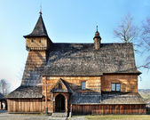 Old Wooden Church in Debno, Poland — Stock Photo