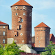 Towers at Wawel Castle — Stock Photo