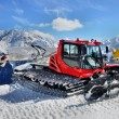 Snow Groomer in Alps — Stock Photo