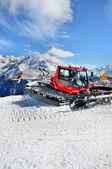 Snow Groomer in Alps — Stock Photo