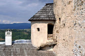 Corner tower of Niedzica Castle, Poland — Stock Photo