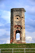 Ruin of castle tower, Poland — Stock Photo