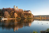 Benedictine abbey in Tyniec in fall, Krakow, Poland — Stock Photo