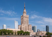 Warsaw city center with Palace of Culture, Poland — Stock Photo
