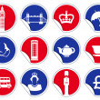 Royalty-Free Stock Vector Image: Symbols of England and London