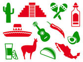 Mexican icon set — Stock Vector