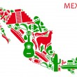 Постер, плакат: Mexico map