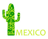 Cactus - a symbol of Mexico — Stock Vector