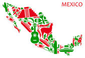 Mexico map — Stock Vector