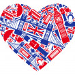 Stock Vector: I love England!