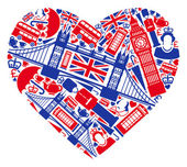 I love England! — Vecteur