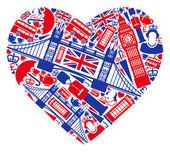 I love England! — Stock Vector