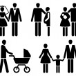 Family pictogrammes - 图库矢量图片
