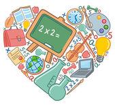 Miłość do szkoły — Wektor stockowy