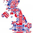 Great Britain map — Vector de stock #18127743