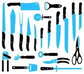 Knifes — Stock Vector