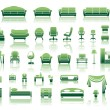 Stock Vector: Furniture icon set