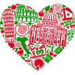 Stock Vector: I love Italy