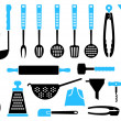 Kitchen Utensils — Stock Vector