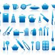 Icons of kitchen ware — Stock Vector