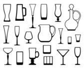 Glasswares — Stock Vector