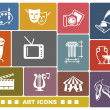 Vector de stock : Art icons