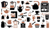 Icons of tea and coffee — Stock Vector