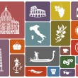 Traditional symbols of Italy — Stock Vector