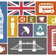 Icons on a theme of England — Stock Vector