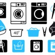 Vector de stock : Washing icons
