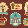 Vector de stock : Labels of travel