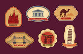 Labels of travel — Stock Vector