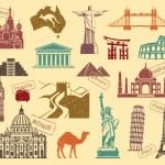 Symbols of travel — Stock Vector