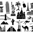 Landmark travel icons — Stock Vector #33229387