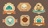 Menu stickers — Stock Vector