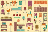 Seamless background on a furniture theme — Stock Vector
