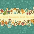 Seamless banner on a theme of New Year and Christmas — Stock Vector