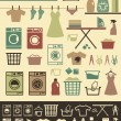 Laundry icons — Stock Vector #39848009