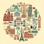 Landmark travel icons — Stock Vector