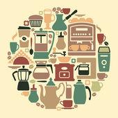 Coffee symbol — Stock Vector