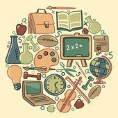 Vzdělání symboly — Stock vektor