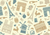 Seamless background on a theme of France — Stock Vector