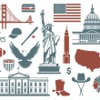 Symbols of the USA — Stock Vector #46887753