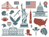 Symbols of the USA — Stock Vector
