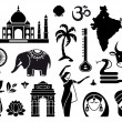 Icons of India — Stock Vector #48376675